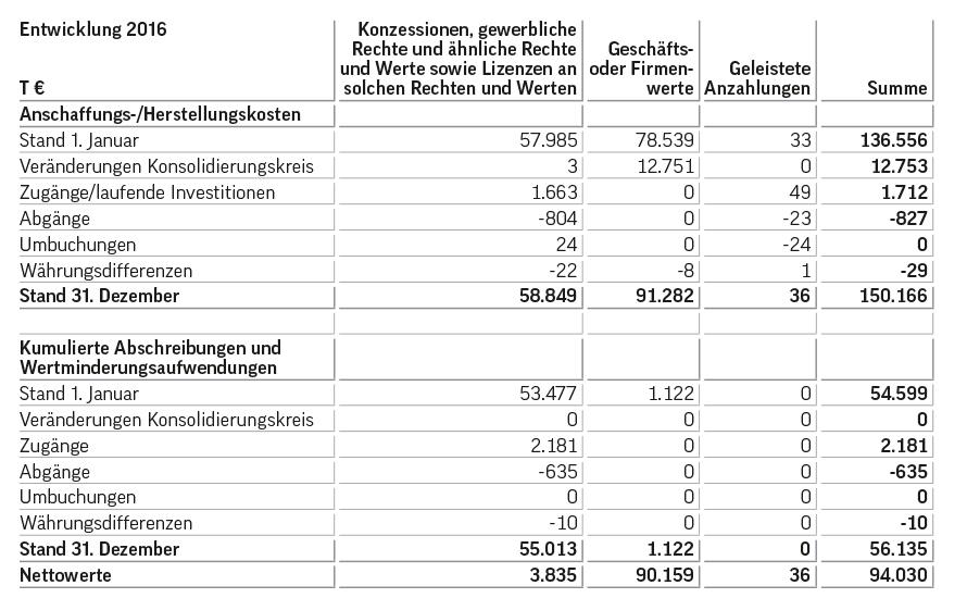 Konzern-Anhang für das Geschäftsjahr 2017 - Geschäftsbericht 2017 ...
